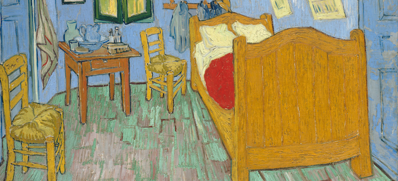 Van Gogh, The Bedroom, 1889 (The Art Institute of Chicago)