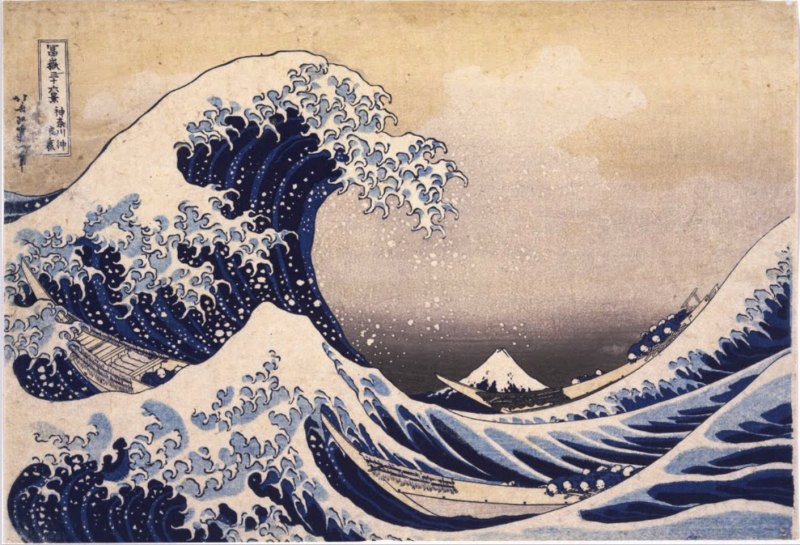 Katsushika Hokusai, Thirty-Six Views of Mount Fuji: The Great Wave Off the Coast of Kanagawa, Edo period, 19th century (Tokyo National Museum)