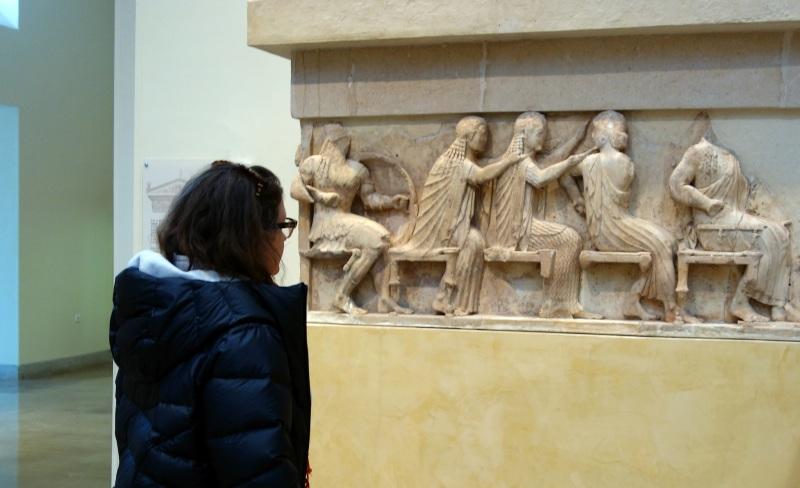 Siphnian Treasury, c. 530 B.C.E., Sanctuary of Apollo, Delphi, Greece