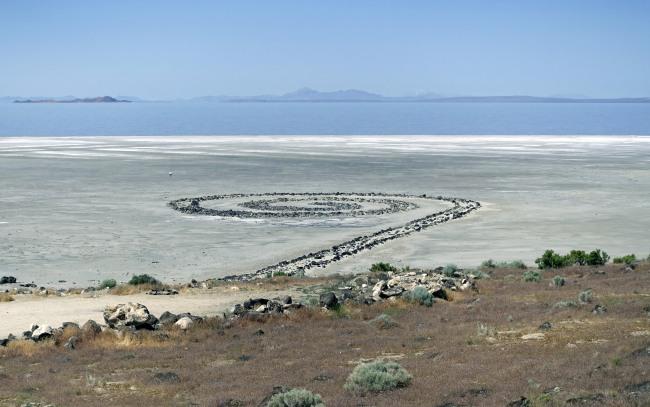 Robert Smithson, Spiral Jetty, 1970, Great Salt Lake, Utah
